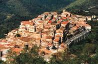 Hilltop historic medieval town of Monterosso Calabro, VV, Calabria, Italia.