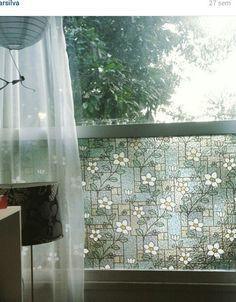 Janela vitral com relevo. #simplesassimdecorar