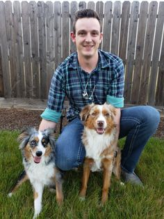 Ricky Walther of Rancho Cordova submitted a photo of himself and his Australian shepherds to create a personal graduation profile that will be displayed for each participant in the UC Davis Veterinary School's online graduation celebration Australian Shepherd Puppies, Australian Shepherds, Cushing Disease, Maltese Poodle, Graduation Celebration, Yorkshire Terrier, Pet Care, Rancho Cordova, Pets