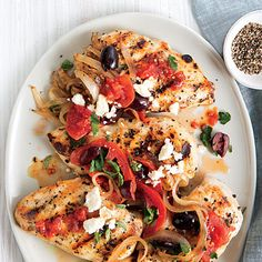 """""""Greek-Style Chicken Breasts Recipe""""  http://www.myrecipes.com/m/recipe/greek-style-chicken-breasts?utm_source=un_display_na_ti_20150501_outbrain"""