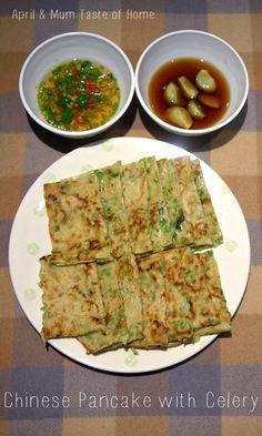 Chinese Pancake with Celery | http://www.bubblews.com/account/155732-aprilz | #vegeterian #healthy #skinny