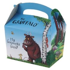 the gruffalo party party box each Party Food Boxes, Party In A Box, Party Bags, Party Party, Gruffalo Party, The Gruffalo, Tea Party Decorations, Kids Party Themes, 3rd Birthday Parties
