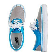 Boys' Vans® with a splash of neon blue!