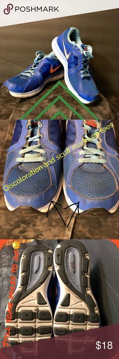 Nike Dual Fusion X 2 Women's Running 8.5🏃🏼♀️ Nike Dual Fusion X 2 Women's Running Shoes Pre-owned - Great Condition:  No holes or rips. Smoke-Free / Pet Friendly home.  Still a lot of tread left!  Running Shoe offers a dynamic fit in the upper with the same dual-density; ultra-smooth ride you know and love. Neutral Support: best for medium to high arches; Size: 8.5 😊Thank you for browsing my closet and have a good day!❤ Nike Shoes Athletic Shoes
