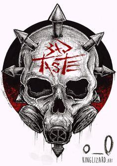 nouveau visuel de merchandising pour le groupe punk hardcore #badtaste par Kinglizard.art ©Kinglizard2014