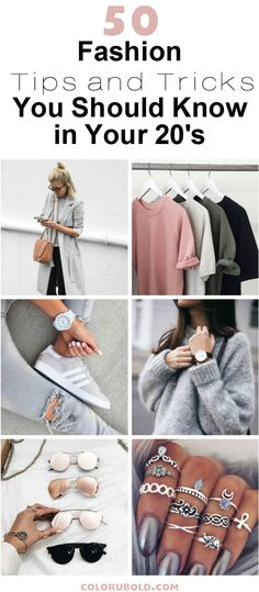 These 50 fashion tips and tricks are scoured from all over the internet and you'll love learning them (especially if you're in your 20's). Checkout!