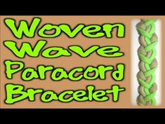 ▶ How to Make a Paracord Woven Wave Bracelet - YouTube  FO WOMEN NOT MUCH CORD