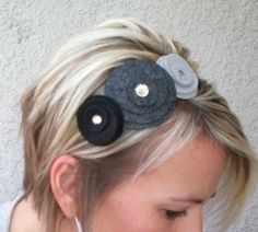 from http://www.theartzoo.com/tag/felt/ beautiful gray scale felt headband