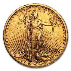 1909 8 20 St Gaudens Gold Double Eagle AU G20 About Uncirculated *** Continue to the product at the image link. This Amazon pins is an affiliate link to Amazon.