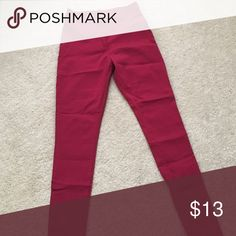 Red high waisted stretch jeans Dark Red high waisted super stretch pants Jeans Skinny