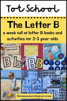 Looking for Letter B themed activity and book ideas? Visit the blog for a full week of curriculum ideas to implement with your toddlers at home or in a preschool setting. #LetterB #TotSchool #EarlyLearning #TeachingToddlers #AlphabetCurriculum