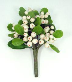 Polymeerklei bloemen leveringen Maretak voor boeket en