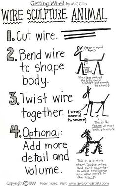 Wire Sculpture Animal: Learn how to form a basic animal shape in wire sculpture. Description from pinterest.com. I searched for this on bing.com/images