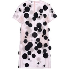 Paskal Short Dress ($705) ❤ liked on Polyvore featuring dresses, light pink, transparent dress, sheer mini dress, short-sleeve dresses, mini dress and see through dress