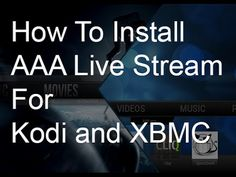We show you how to install AAA Live Stream for Kodi and XBMC. Very simple step by step instructions  youtube: http://youtube.com/nhsmedia Website: cwilliamtech.weebly.com