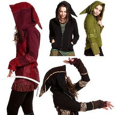 PIXIE HOODED JACKET, pixie clothing, hippy hoodie, psy trance festival clothes