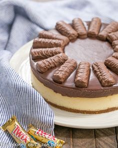 Twix Cheesecake   A dream cheesecake for chocolate and caramel lovers!