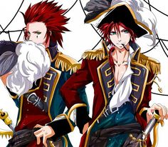 Pirates make everything better. The other guy is Reno, the FF character Axel was based on.