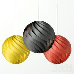 Lujan + Sicilia Twister Pendant Lamp