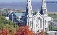 """Shrine of St. Anne de Beaupre, Quebec, Canada in college with friends through a club. John gave me s surprise birthday """"party"""" at dinner. Planned it with the matrade!"""