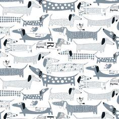 Loboloup Wiener Dog Wallpaper (set of 2)   ugh LOVE