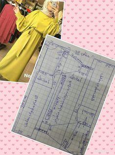 Maty's trip abaya – SkillOfKing. Abaya Pattern, Mode Abaya, Fashion Vocabulary, Muslim Dress, Abaya Fashion, Dress Sewing Patterns, Blouse Dress, Fashion Sewing, Sewing Techniques