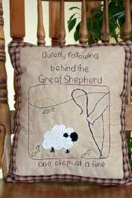 Primitive stitchery is embroidery that is styled to compliment primitive decorating. Learn how to craft your own primitive stitched home decor. Broderie Primitive, Primitive Embroidery Patterns, Primitive Stitchery, Primitive Crafts, Primitive Christmas, Embroidery Stitches, Hand Embroidery, Embroidery Designs, Primitive Snowmen
