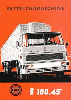 Brochure Cover Š Truck Art, Brochure Cover, Car Posters, Car Advertising, Commercial Vehicle, Retro Cars, Big Trucks, Car Car, Sport Cars