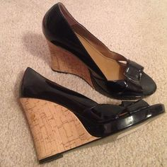 NWT Style & Co black patent wedges Brand new!! Style & Co Shoes Wedges