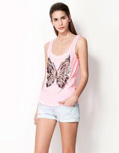 Bershka España - Camiseta Bershka mariposa