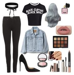 """""""rebel without a cause"""" by anehta on Polyvore featuring Acne Studios, Christian Louboutin, Boohoo, Gap, Victoria's Secret, Morphe, Ilia, NARS Cosmetics and Laura Mercier"""