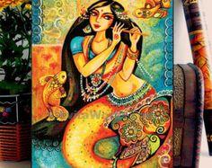 Mermaid painting art print girl and sea dancing girl by EvitaWorks