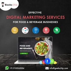 Being a reputed digital marketing agency, Geekschip, help restaurants to attract and retain their dining guests with its cutting-edge digital marketing services for their food and beverage. Seo Agency, Seo Company, Digital Marketing Services, Internet Marketing, Restaurants, Beverages, Branding, Dining, Business