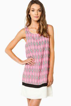Marelys Tank Shift Dress in Pink / ShopSosie #shopsosie #sosie