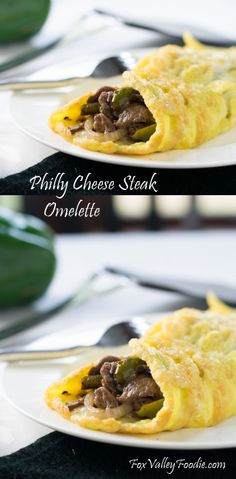 There is no better way to start your day than with a Philly Cheese Steak Omelette! It has all the classic cheese steak flavors that you love, wrapped in a delicate egg blanket! Steak Breakfast, Breakfast Dishes, Breakfast Time, Breakfast Recipes, Breakfast Ideas, Brunch Dishes, Beef Recipes, Cooking Recipes, Healthy Recipes