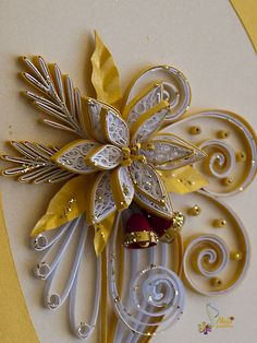 Neli is a talented quilling artist from Bulgaria. Her unique quilling cards bring joy to people around the world. Neli Quilling, Quilling Images, Quilling Work, Quilling Paper Craft, Quilling Flowers, Quilling Patterns, Quilling Designs, Paper Crafts, Diy And Crafts