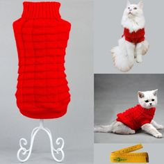 Knitted Braid Plait Turtleneck Sweater Knitwear Outerwear for Dogs and Cats >>> Find out more about the great product at the image link.
