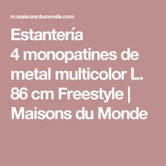 Estantería 4monopatines de metal multicolor L. 86cm Freestyle | Maisons du Monde