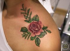 Rose Tattoo by Melek Taştekin #tattoo #rose #rosetattoo #flowertattoo #güldövmesi