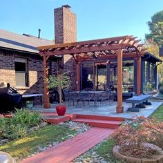 Arched Pergola Kits Curved Pergola, Deck With Pergola, Outdoor Pergola, Pergola Kits, Gazebo, Backyard Patio Designs, Backyard Landscaping, Patio Ideas, Backyard Ideas