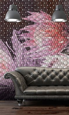 Upholstery wallpaper by AD'A / Panels for covering of walls and furniture parts with finish in paper. Fully customizable in decorative pattern and color.