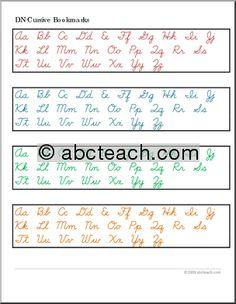 Printable Handwriting: Cursive Writing   abcteach