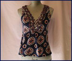 Anthropologie Blouse Size S By Akemi Kin Floral Ruffles 100% Cotton