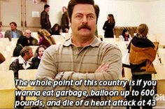 17 Times Ron Swanson Perfectly Summed Up Your Relationship With Food