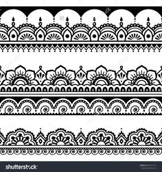 Design your own photo charms compatible with your pandora bracelets. Indian seamless pattern, design elements - Mehndi henna tattoo style by RedKoala #India