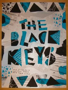 2010 The Black Keys - NYC Concert Poster by Nate Duval