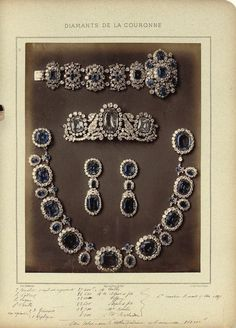 French Crown jewels: Sapphire parure