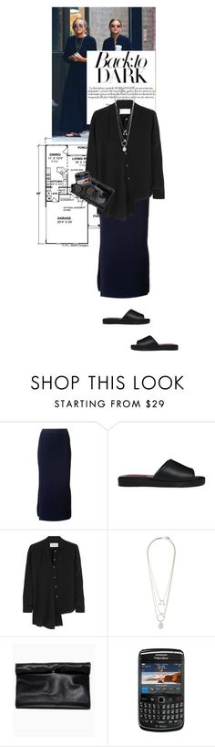 """Untitled #1261"" by talita-roberto ❤ liked on Polyvore featuring Olsen, Dion Lee, London Rebel, Maison Margiela and Mykita"