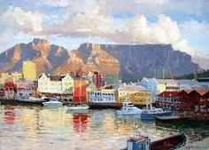 Cape Town Waterfront by Roelof Rossouw South African Art, Visit France, Cape Town, Impressionist, Art History, Egypt, Landscape, Drawings, Artwork