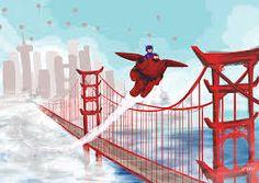 Image result for san fransokyo bridge